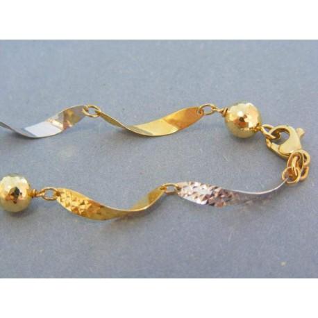 Zlatá dámsky retiazka žlté biele zlato točená