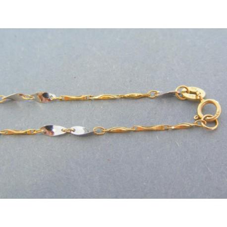 Zlatá retiazka dvojfarebné zlato zaujímave tvary