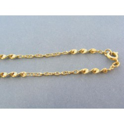 Zlatá retiazka žlté zlato točený vzor s očkami