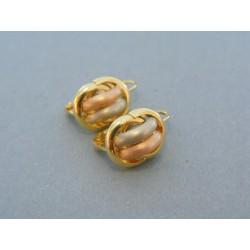 Zlaté dámske náušnice žlté biele červené zlato DN248V