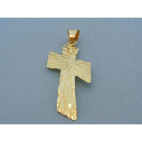 Veľký prívesok kríž žlté zlato