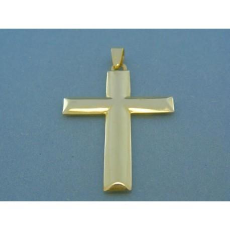 Hladký kríž žlté zlato