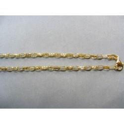 Zlatá retiazka žlté zlato vzor očká DR45467