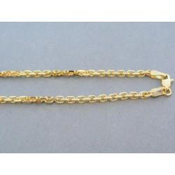 Zlatá retiazka vzor pílka žlté zlato