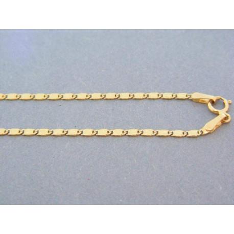 Zlatá retiazka plné tvary žlté zlato