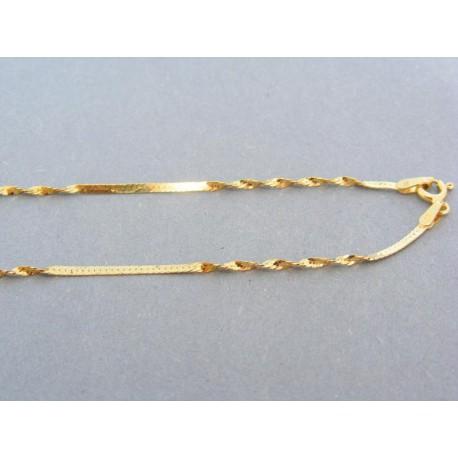 Zlatá retiazka žlté zlato pevný aj točený vzor