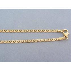 Zlatá retiazka oválne očká predelené žlté zlato