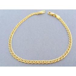 Zlatý náramok na ruku žlté zlato dvojité očká