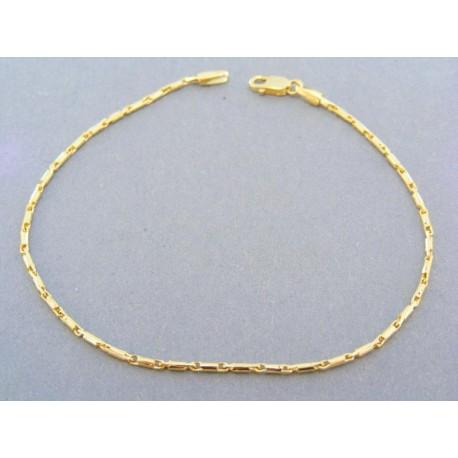 Jemný zlatý náramok žlté zlato plné tvary