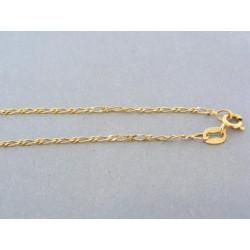 Jednoduchá zlatá retiazka žlté zlato