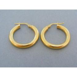 Zlaté dámske náušnice malé kruhy žlté zlato DA216Z