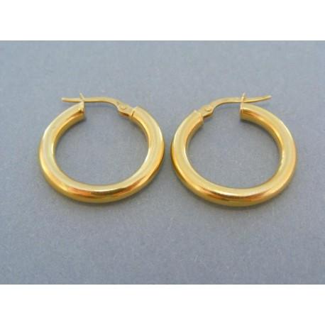 Dámske náušnice malé kruhy žlté zlato