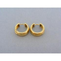 Náušnice male kruhy žlté zlato