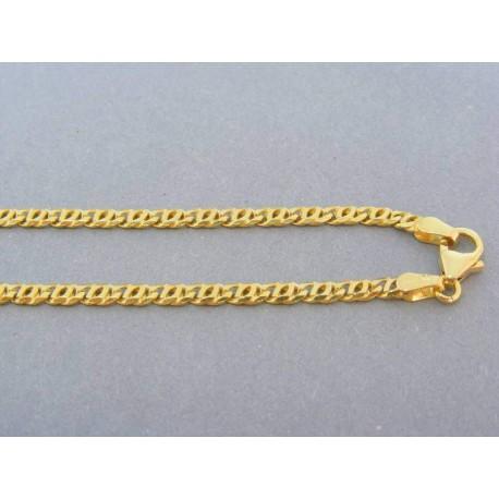 Zlatá retiazka žlté zlato prepletané očká