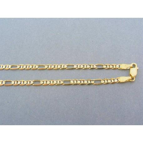 Zlatá retiazka malé predelené očka aj väčšie žlté zlato