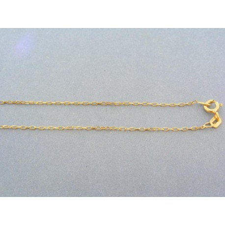 Zlatá retiazka vzor tenká pílka žlté zlato