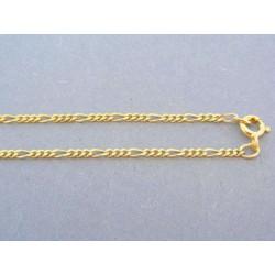 Retiazka vzor figárovy žlté zlato