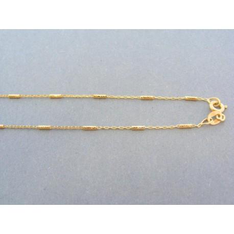 Zlatá retiazka žlté zlato malé očka obdĺžnikove tvary