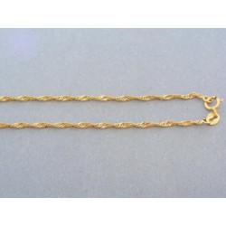 Jemná zlatá retiazka točený vzor žlté zlato