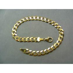 Zlatý náramok vzor pancier VN21762