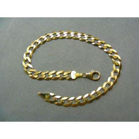 Zlatý náramok vzor pancier