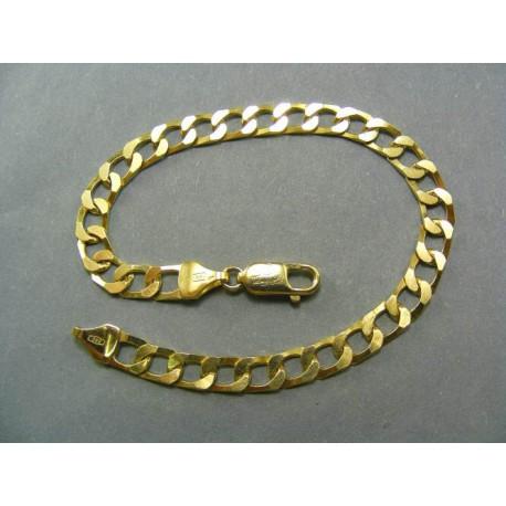 Hrubý zlatý náramok žlté zlato