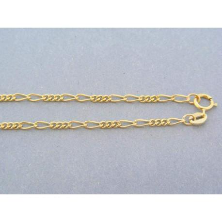 Zlatá retiazka žlté zlato tri malé očka dva veľke striedavo