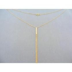 Zlatá retiazka žlté zlato spojená do prívesku