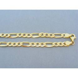 Hrubá zlatá retiazka v žltom zlate vzor figáro