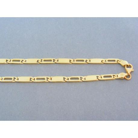 Zlatá retiazka žlté zlato obdĺžnikove zaoblené tvary