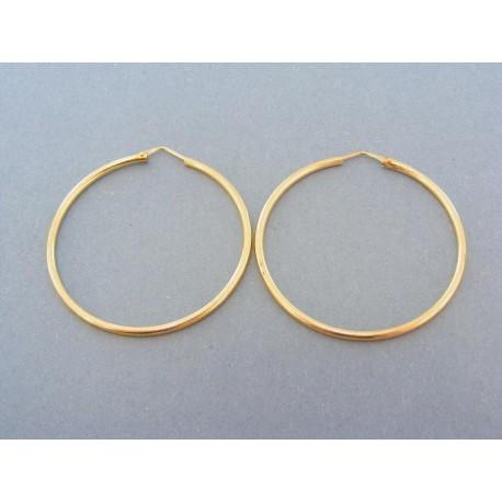 Náušnice dámske žlté zlato kruhy