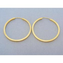 Zlaté náušnice dámske hranaté kruhy