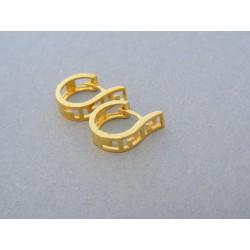 Zlaté dámske náušnice vzorované žlté zlato DA192Z