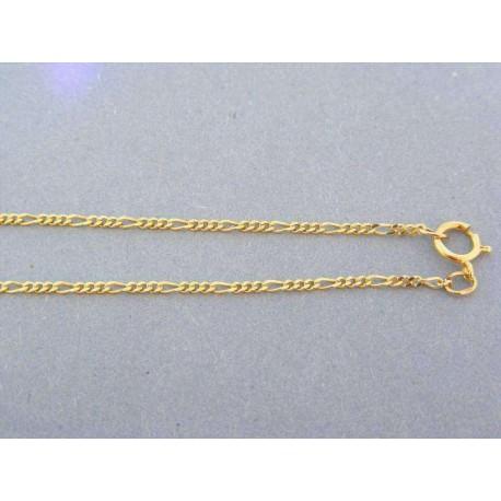 Jemná zlatá retiazka žlté zlato figárovy vzor