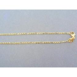 Zlatá retiazka figárovy vzor žlté zlato