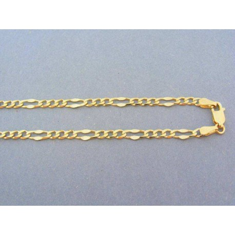 Krásna zlatá retiazka žlté zlato figárovy vzor