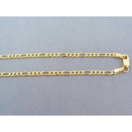 Zlatá retiazka vzor figáro žlté zlato