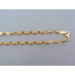 Zlatá retiazka oválne zdobené tvary