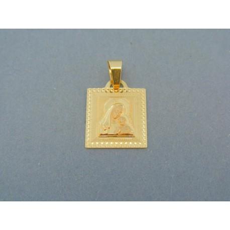 Prívesok zlatý žlté zlato Panna Mária s Ježišom