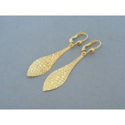 Zlaté náušnice dámske visiace žlté zlato DA224Z