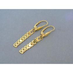 Zlaté náušnice žlté zlato visiace DA213Z