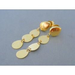 Zlaté dámske náušnice visiace žlté zlato napichovačky DA202Z