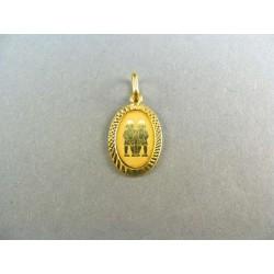 Zlatý prívesok znamenie žlté zlato DI085Z