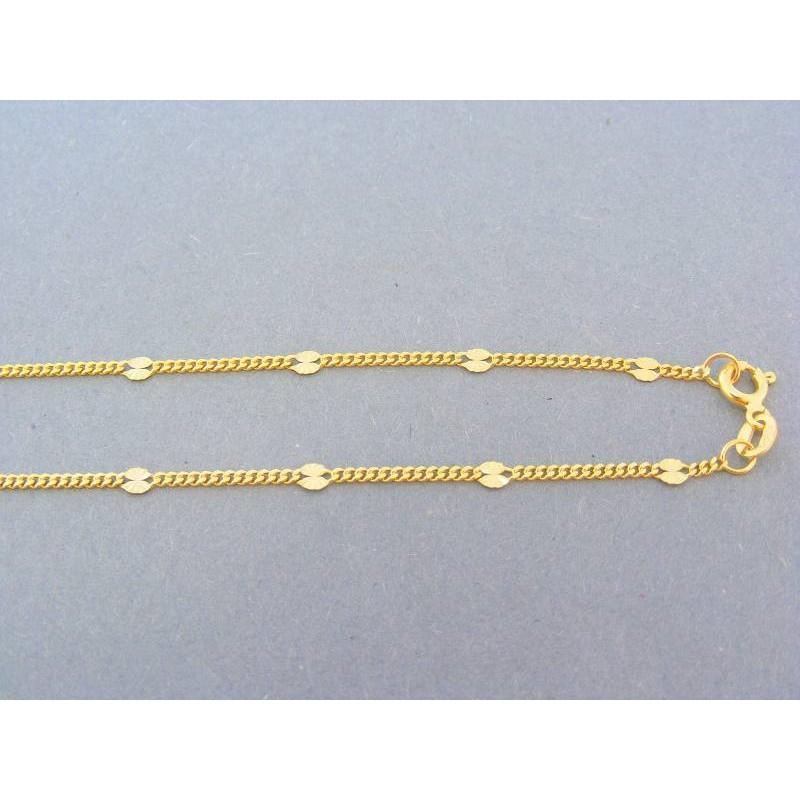 7f778b527 Zlatá retiazka zlato žlté malé očká platničky