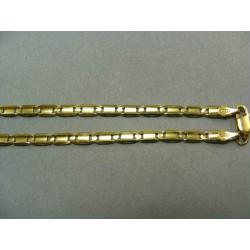 Zlatá retiazka vzor žiletka žlté zlato DR50974