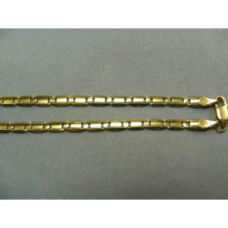 Zlatá Retiazka vzor žiletka žlté zlato