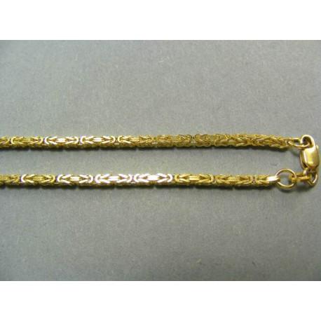 Zlatá retiazka kráľovský vzor žlté zlato