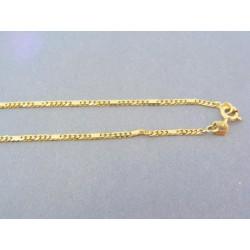 38165bed0 Zlatá retiazka žlté zlato malé očká plné platničky DR49483Z