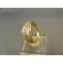 Zlatý prsteň dámsky so zirkónmi žlté zlato VP54342Z