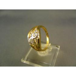 Zlatý dámsky prsteň so zirkónom VP57419